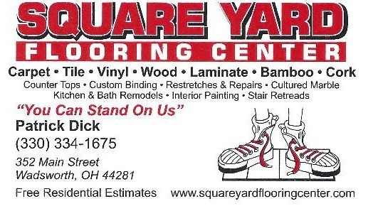 Square Yard Logo - Contact our flooring store in Wadsworth, Ohio, for hardwood floors, laminate floors, ceramic tile, and carpeting sales and installation.